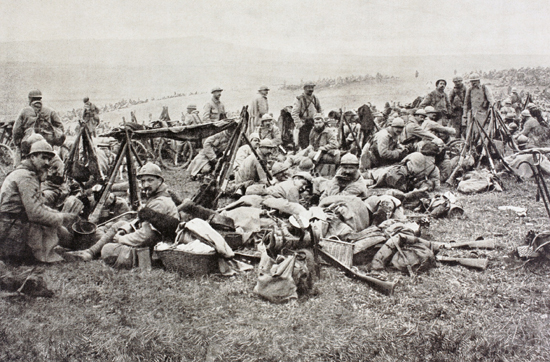 French soldiers resting, Verdun 1916